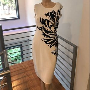 Black & White Midi Dress size M